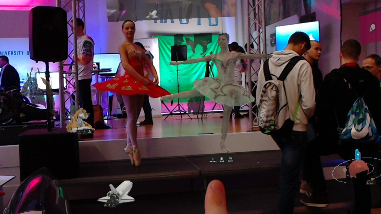 Hololens - živá a virtuálna baletka