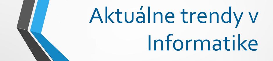 Aktuálne trendy v informatike banner