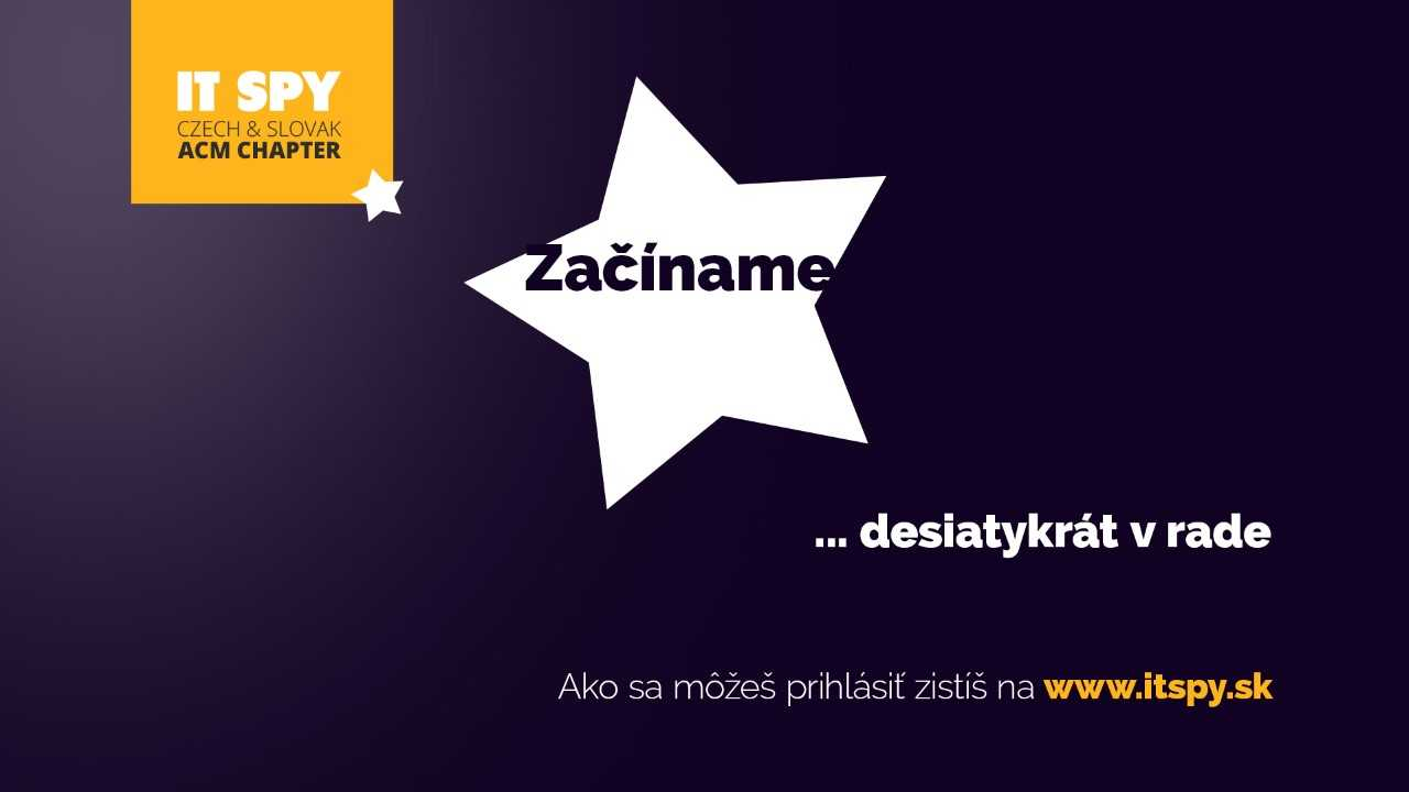 Súťaž IT SPY 2019 - banner